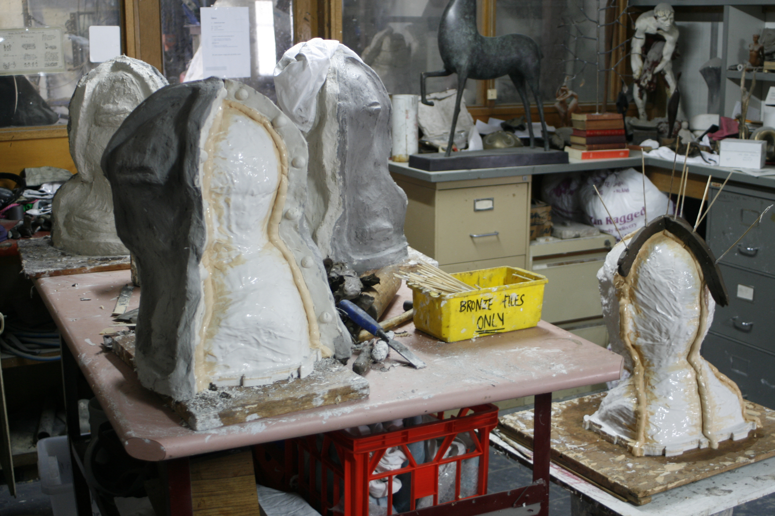 Master mould of head, Silcon rubber and clay