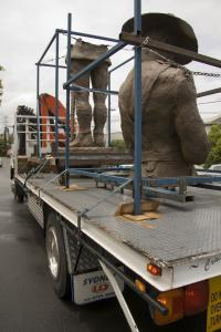 Arrival of original sculpture