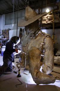 Welding torso of Anzac Digger