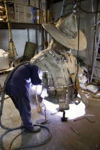 Welding top half of figure
